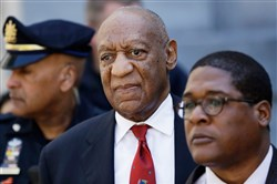 Bill Cosby leaves the the Montgomery County Courthouse on April 26 in Norristown, Pa., after being convicted of drugging and molesting a woman.