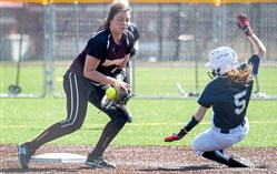 Although probably a catcher next year at Colgate, Steel Valley's Morgan Farrah is an outstanding shortstop and is batting .689 for the Ironmen.