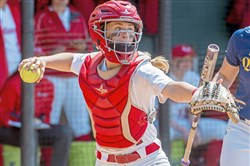 Greensburg Salem grad Claire Oberdorf is a standout catcher at Marist who has battled back from knee surgery.
