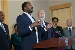 In May 2018, Meek Mill spoke about the need for criminal justice reform next to Gov. Tom Wolf at the National Constitution Center.