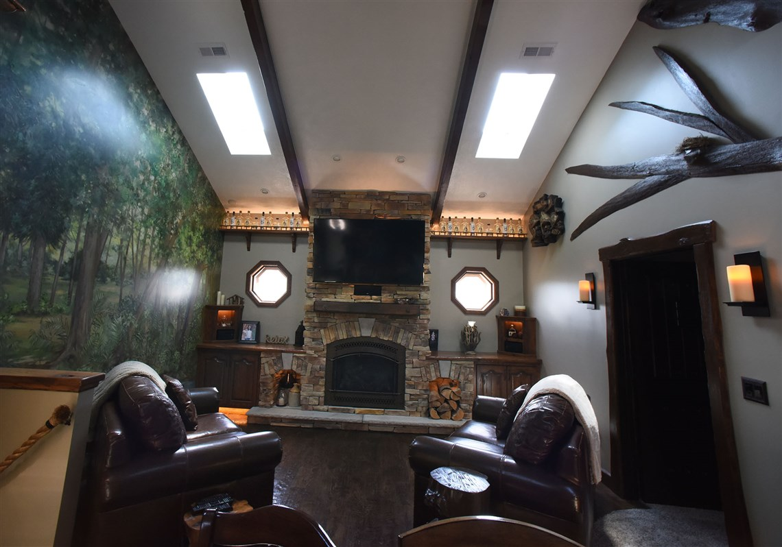 Man Cave Norman Ok : Firehouse: electrician's vision sparked a cozy man cave pittsburgh