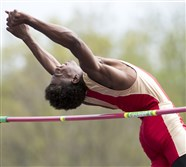 Penn Hills' Emmanuel Mitchell won the high jump at the Baldwin Invitational with a jump of 6-7½, the best jump in the WPIAL this season.