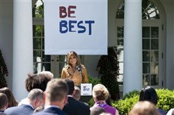 "We get it, Melania: First lady Melania Trump announces her ""Be Best"" initiative, May 7."