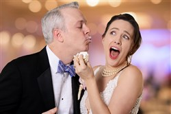"Tim McGeever and Julia Geisler in CLO Cabaret's ""Perfect Wedding,"" May 10-Aug. 22, 2018, a farce at the Cabaret at Theater Square."