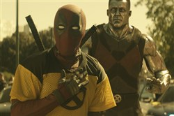 "Deadpool (Ryan Reynolds) and Colossus in ""Deadpool 2."""