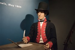 Area man: A likeness of Meriwether Lewis at the Heinz History Center.