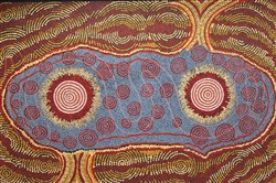 """Fire Dreaming,"" a 1989 painting by Malcom Maloney Jagamarra."