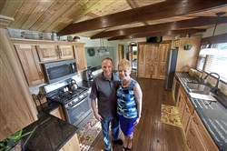 Steve Quinn and Karen Grainy did most of their work in their kitchen, where hickory is the star.