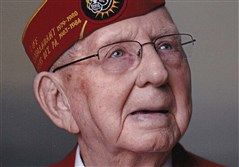 Robert L Mell III,  who was a master sgt. with the 4th Marine Division and at Iwo Jima.