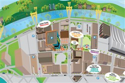 Pittsburgh International Children's Festival bird's-eye map.
