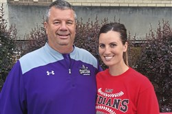 Vince Sortino of Baldwin and Nicole Davis of Peters Township are father-daughter softball coaches who might face each other in the playoffs.