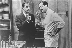 "Stanley Tucci, left, and Tony Shalhoub star in ""Big Night,"" the heartwarming story of two Italian immigrant brothers attempting to save their failing restaurant and attain the American dream."