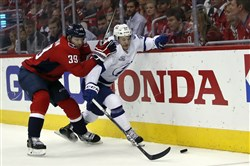 The home team has yet to win a game in the Eastern Conference final series between the Capitals and the Lightning.