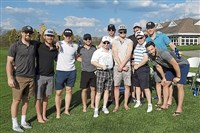 Some golfers at Cranberry Highlands — lawyers Ed and Alex Shenderovich among them — found Penguins players rooting for them on May 8.