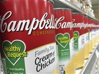 In this 2017 file photo, Campbell's soups on display at a local supermarket in Orlando, Fla.