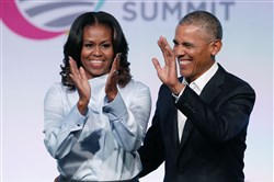 Former President Barack Obama and first lady Michelle Obama.