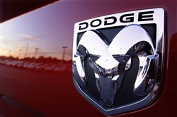 This Aug. 15, 2010, file photo shows a Dodge Ram logo at a dealership in Springfield, Ill.