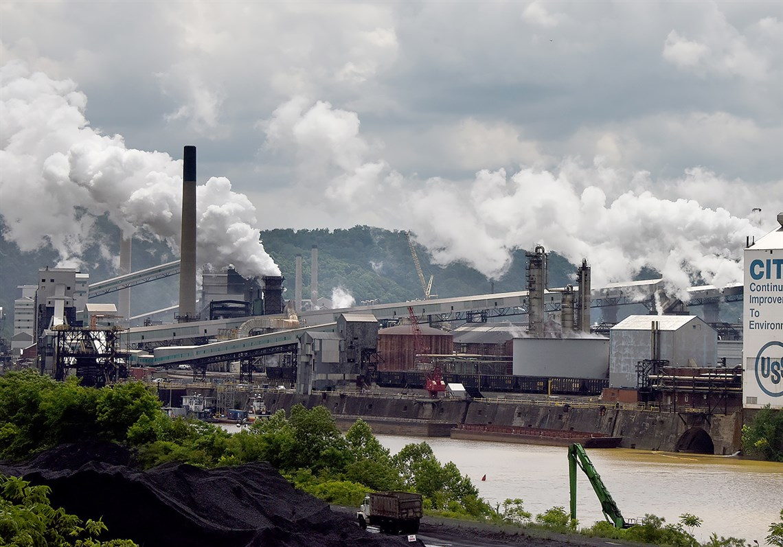 U.S. Steel's Clairton coke plant along the Monongahela River on Monday in Clairton.