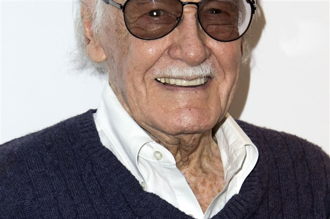 "In this file photo taken Aug. 22, 2017, comic book writer Stan Lee attends the ""Extraordinary: Stan Lee"" at the Saban Theater in Beverly Hills, Calif."