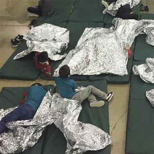 In this Sunday, June 17, 2018, file photo provided by U.S. Customs and Border Protection, people who've been taken into custody related to cases of illegal entry into the United States, rest in one of the cages at a facility in McAllen, Texas. Child welfare agencies across America make wrenching decisions every day to separate children from their parents. But those agencies have ways of minimizing the trauma that aren't being employed by the Trump administration at the Mexican border.