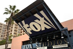 FOX signage outside of 20th Century Fox Studios in Los Angeles on Feb. 5, 2013.