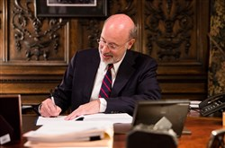 Gov. Tom Wolf signs the 2018-19 budget on Friday, June 22, more than a week ahead of deadline.