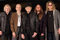 Progressive rock band Yes: Geoff Downes, left, Steve Howe, Alan White, Jon Davison and Billy Sherwood.
