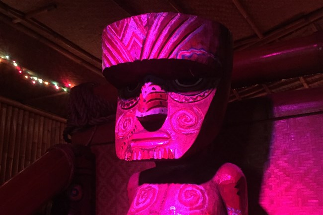 A tiki totem at the Tiki Lounge on the South Side.