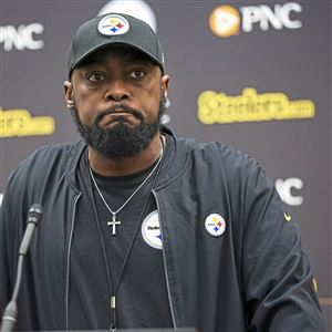 Steelers Head Coach Mike Tomlin talks about his team's recent downfalls against the New Orleans Saints in this Dec. 25, 2018 file photo at the UPMC Rooney Sports Complex on the South Side.