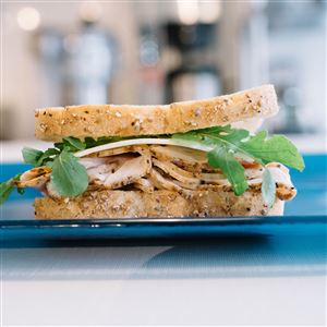 My Goodness in Regent Square is offering $7 meals like this roasted turkey sandwich with cheddar and baby arugula for furloughed government workers.