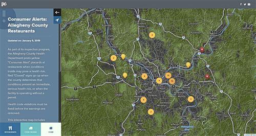 Consumer Alerts map