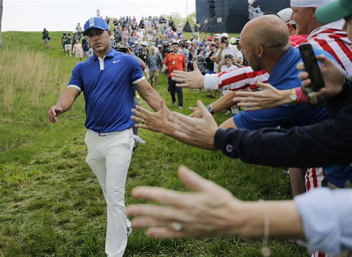 Brooks Koepka holds 7-shot lead after record two rounds at PGA Championship