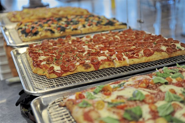 A selection of Roman-style pizza at Romulus Pizza al Talglio in June.