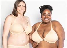 Models in the Evie bra, the first front-closure bra to be designed and sold by Trusst Brands.