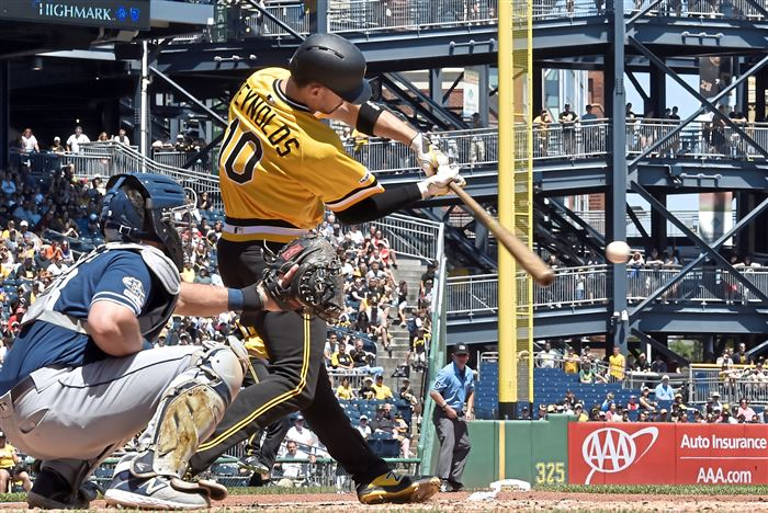 Pirates score four runs in 11th inning to beat Padres, 11-10, and sweep series
