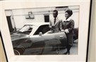 Randy Dye framed this photo of Roberto and Vera Clemente with the 1972 Dodge Charger that Mr. Dye bought at auction in 2017. The photo hangs on the wall of his office.