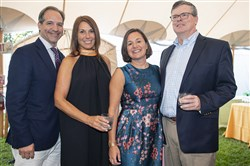 From left, Al and Joanna Caruso with Sally and Will McCrady at the Twilight Picnic for the Parks, Saturday, Aug. 24, 2019, at the Hartwood Acres Mansion, Hampton.