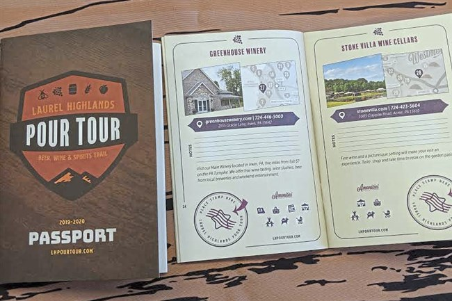 The Laurel Highlands Visitors Bureau is launching the Laurel Highlands Pour Tour, a 31-stop self-guided tour that visitors can document in a passport. The more stamps they accumulate by visiting each stop, the more prizes they can win, and a corresponding smartphone app helps them enjoy and expand the experience.
