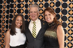 Steelers Style co-chairs: Kiya Tomlin, left, Art Rooney II and his wife, Greta.