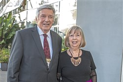 Founder Graham Hodgetts with Eileen at the CEED Gala to celebrate the organization's 20th anniversary at Phipps Conservatory and Botanical Gardens in Oakland.