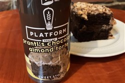The new Platform Prantl's beer is made in Cleveland based on the Western Pennsylvania bakery's Chocolate Almond Torte. It will be available at retail locations in Pittsburgh on Monday.
