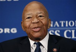 In this Aug. 7, 2019, file photo, Rep. Elijah Cummings, D-Md., speaks during a luncheon at the National Press Club in Washington. U.S. Rep. Cummings has died from complications of longtime health challenges, his office said in a statement on Oct. 17, 2019.