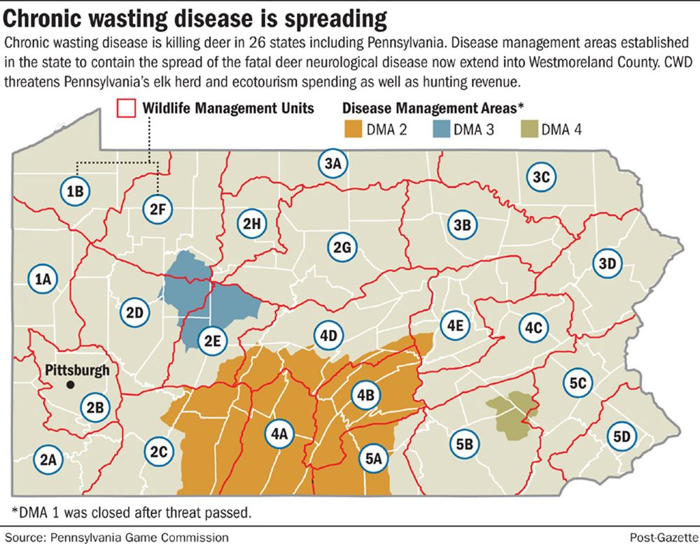 Pennsylvania Game Commission Raises Alarm On Deadly Deer Disease Pittsburgh Post Gazette