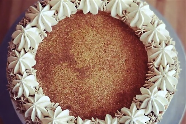 Pumpkin roll cake from Gluten Free Goat in Bloomfield is one of the bakery's many gluten-free baked items available for order for Thanksgiving dinner.