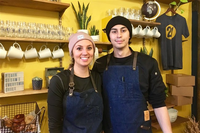 Zoe Rieder and Max Becerra, proprietors of the new Lola's Eatery in Lawrenceville.
