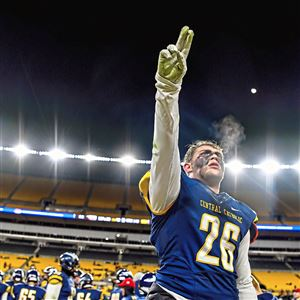 Central Catholic's Max Ciganik and his teammates were celebrating their WPIAL Class 6A championship around midnight Saturday. That's what time the last of four championship games ended at Heinz Field.