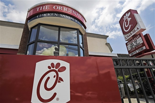This July 19, 2012, file photo shows a Chick-fil-A restaurant in Atlanta.