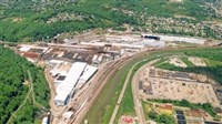 An aerial view of the AK Steel mill in Butler Township.