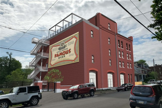 An architectural rendering of what the former Hazelwood Brewing Co. on Lytle Street will look like after its restoration.