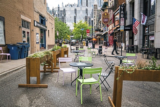 Dining areas in Market Square photographed on Friday, Oct. 2, 2020.